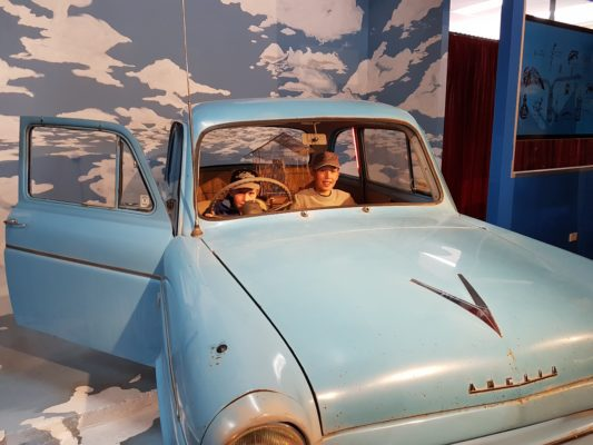 The Ford Anglia inside the store is popular with wizards of all ages.