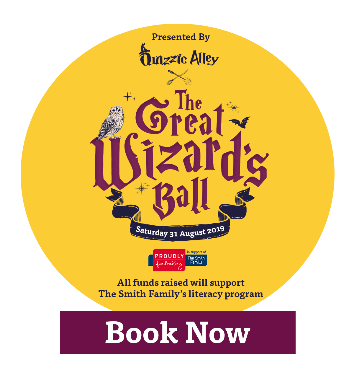 Quizzic Alley Wizards Ball, Saturday 31 August 2019.
