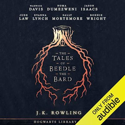 Image shows the cover used on the Audible page where you can purchase The Tales of Beedle the Bard audiobookBeedle the Bard