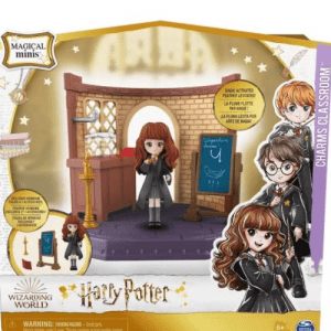 Hermione in the Charms classroom play set
